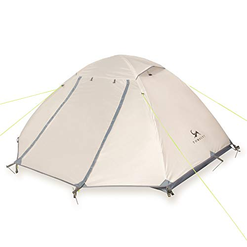 TOMOUNT テント2-3人用 自立式 二重層 通気 防風 防水 耐水圧3000mm 軽量 キャンプ バイク アウトドア 登山用 簡単設営
