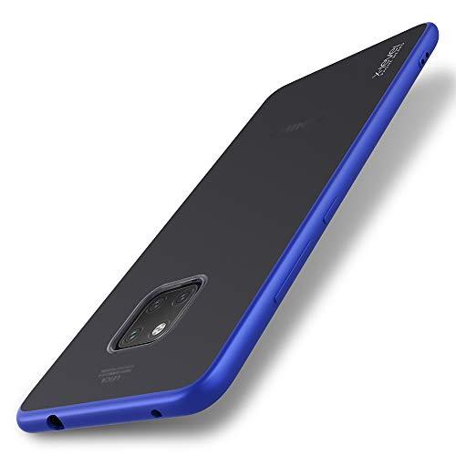 X-level Funda Huawei Mate 20 Pro, Estuche rígido Protector con PC translúcido y Parachoques de TPU, [A Prueba de Golpes, Antideslizante y antiarañazos] Compatible para Huawei Mate 20 Pro - Azul