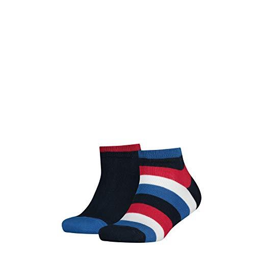 Dobotex International BV Apparel Tommy Hilfiger Unisex Kinder TH KIDS BASIC STRIPE QUARTER 2P Socken, 2er pack, Blau (midnight blue 563), 27-30