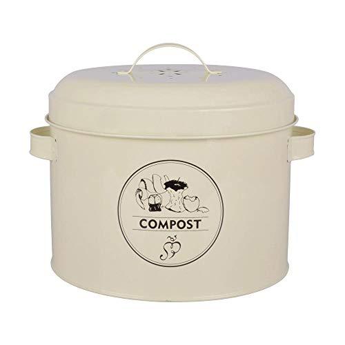 Esschert Design Komposter aus Metall mit Aktivkohlefilter, 27,0 x 23,2 x 21,3 cm