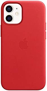 iPhone 12 mini Leather Case with MagSafe - (PRODUCT) RED