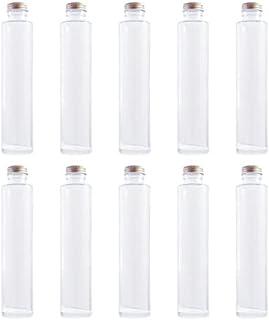 日本製 ハーバリウム ガラス瓶 キャップ付 透明瓶 円柱瓶 10本セット 200cc