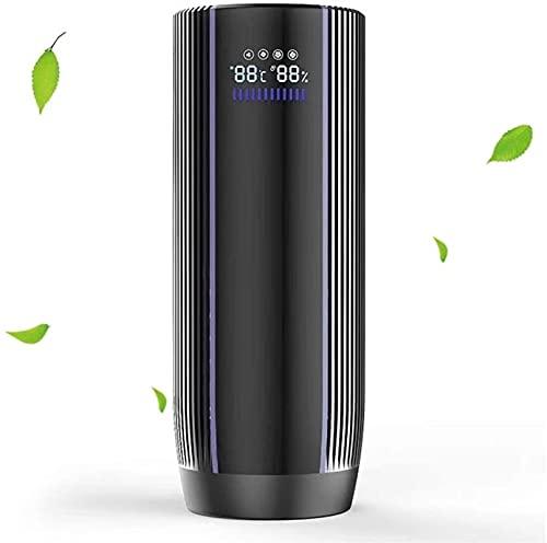Xingdong, purificatore d'aria per auto, 4 velocità con display LCD, generatore negativo ionizzatore per auto, piccolo ambiente, rimuove fumo e polvere, allergie germi PM2.5 durevole