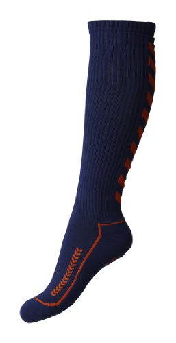 Hummel Socke Advanced Long Indoor, Dark Denim/Shocking orange, 8 (32-35), 21-059-7684