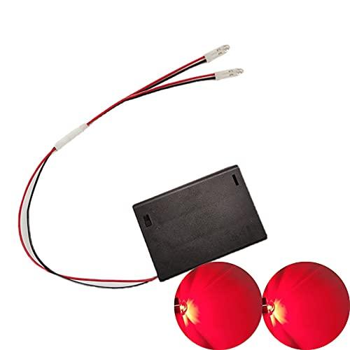 malyituk Always Bright LED luz hecha a mano DIY luces LED caseras, batería AA F5 interruptor LED con caja de batería 5V voltaje, para casco Cosplay DIY tiras de luz superhéroe (rojo)