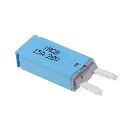 MagiDeal Car ATM Mini Blade Fuse Kit Circuit Breaker Manual Reset - 15A