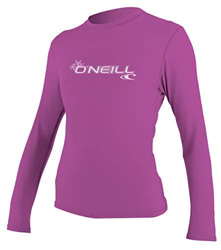 O'Neill Wetsuits Damen WMS Basic Skins L/S Rash Tee Vest, Fox Pink, S