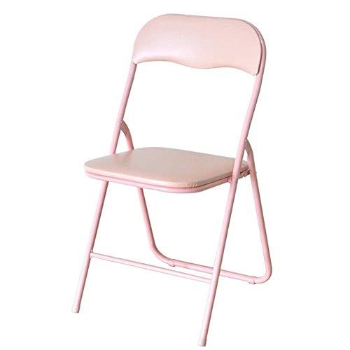 CHHD Chaises Pliantes Portables, Chaise de Table à Manger décontractée Chaise de Bureau Noir/Vert/Rose Chaise de Jardin Mignonne de Chambre à Coucher pour Le Camping, Les Festivals, Le Jardin