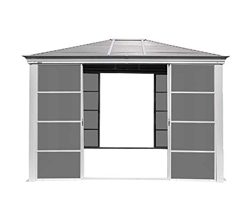 Sojag Aluminium Pavillon Striano 12x14 // 427x362 cm (TxB) // Gartenlaube mit Stahldach