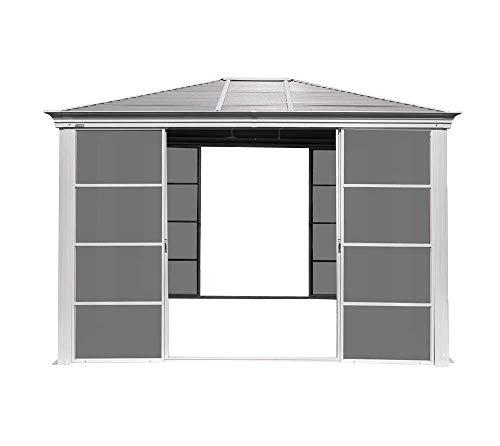 Sojag Aluminium Pavillon Striano 10x12 // 362x298 cm (TxB) // Gartenlaube mit Stahldach