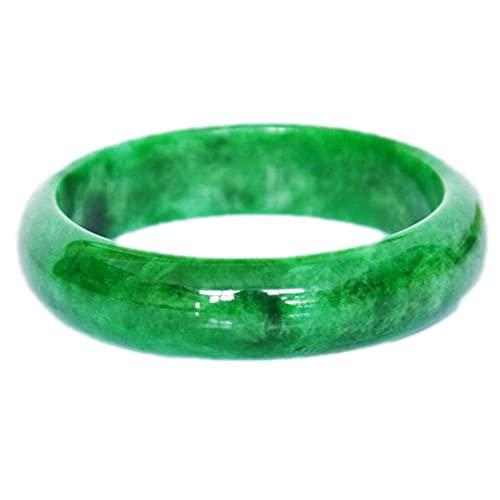 FEEE-ZC Pulsera de Jade Verde Jaspe para Mujer, Brazalete de energía curativa con Piedras Preciosas Naturales para Madre