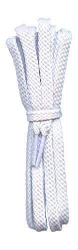 6 mm Laces forts plats blancs de chaussures pour chaussures de sport, lacets de football - lacets de rechange pour Converse, Vans, Skechers etc