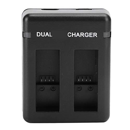 FOLOSAFENAR Batería para cámara de Video con Entrada Micro USB y Tipo-c Cargador Dual USB de Alta Capacidad ABS 1220mah para GoPro Hero 5/6/7/8