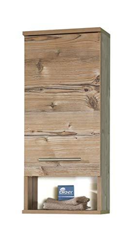 Schildmeyer Hängeschrank 119933 Isola, 30x20.5x71 cm, silberfichte Dekor