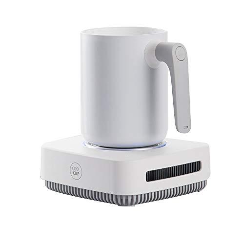 Xyanzi Frigoríficos Mini Refrigeración Inteligente, Taza De Refrigeración Taza De Enfriamiento Rápido Aislador De La Máquina Refrigerador Taza De Enfriamiento Blanco