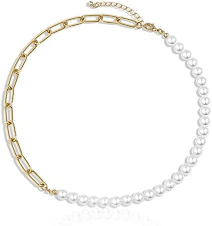Gold Choker Necklaces for Women Chunky Gold Chain Link Necklaces Dainty Chain Link Necklaces product image