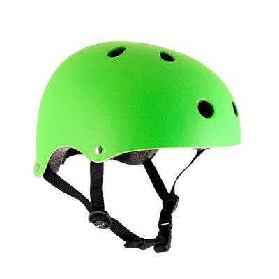 SFR Skateboard / Scooter / Inliner / BMX / Rollschuh Schutz Helm - Neon Grün - Skateboard Schutzausrüstung , Grösse:S/M 53-56cm