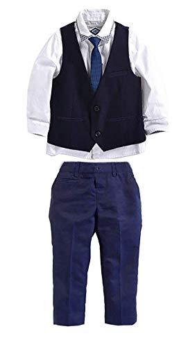 Bebé Suit 4 Piezas Conjunto de Traje para Niños Pequeños