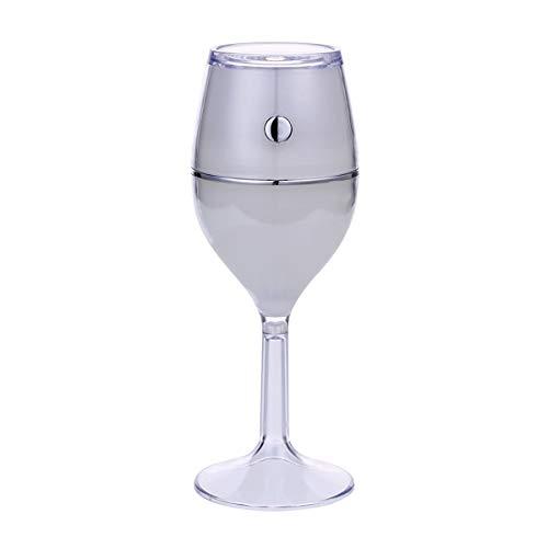 Meng Ultraschall Luft Tragbare Industrie für Auto Diffuse Bunte Minibefeuchter Wein Wagen Luftbefeuchter Bürobedarf (Color : White)