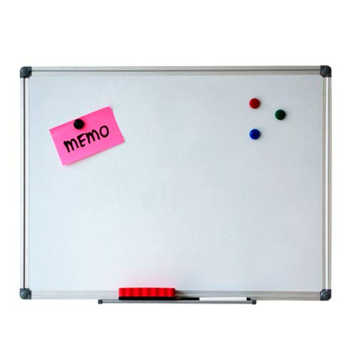 Whiteboard - Magnetisch - 90 x 120 cm - Inclusief pennengoot