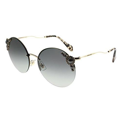Miu Miu 0MU52TS WO43M1 60 Gafas de sol, Dorado (Pale Gold/Grey), Mujer