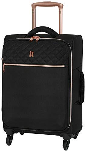 Suitcase Expandable 4 Wheel Soft Cabin 38-47L - Black