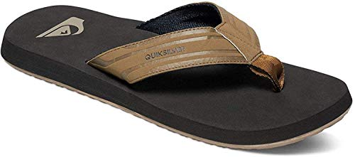 Quiksilver Herren Monkey Wrench Flops for Men Flip-Flop, TAN - SOLID, 42 EU
