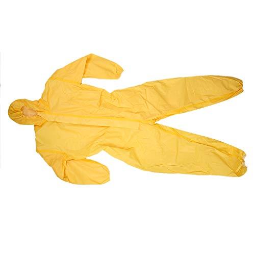 3085T gelb Schutzanzug, Wasserdicht, Staubdicht, Antistatisch, ölbeständig, Säure-Alkali versiegelt einteilige Schutzkleidung, kann für Labor-, Pestizid-Sprühen Verwendet Werden(XXL)