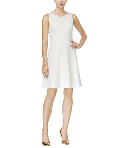 Ivanka Trump Womens Fit and Flare Dress (10, Ivory)