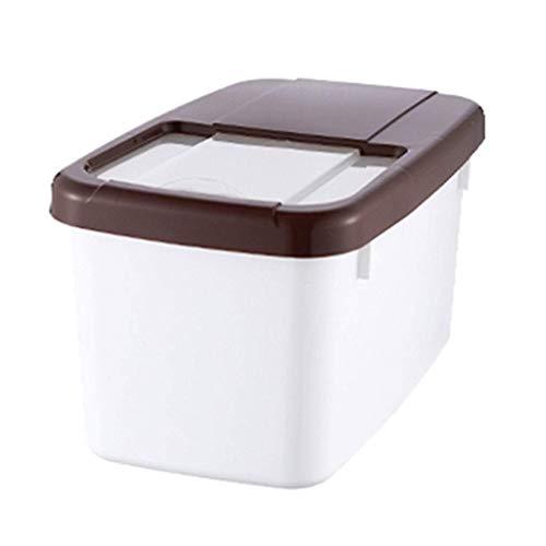 Rijst emmer huishoudrijst kan pvc insectenvrije meel emmer keuken rijst cilinder keuken opbergdoos mueslihouder (kleur: bruin, afmetingen: 34 * 21 * 29,5 cm / 13 * 8 * 11 inch)