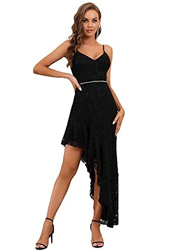 Ever-Pretty Asimétrico Vestido de Novia para Boda Largo para Mujer Sencillo Escote...