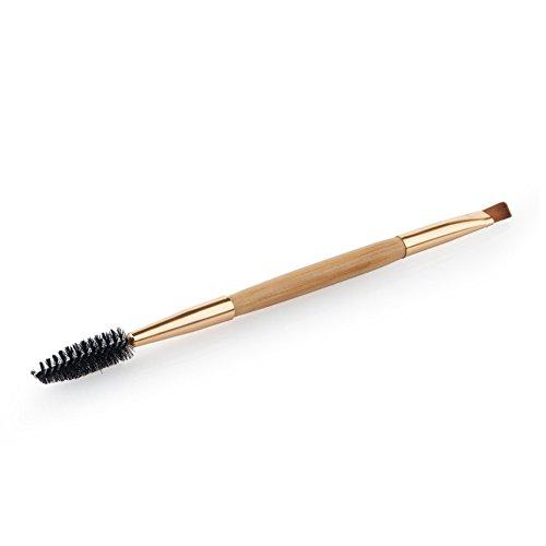 Demarkt 1pcs Brosse de maquillage à double usage Ombre à Paupière Blush Fondation Pinceau Poudre Fond de teint Anti-cerne Kit Pinceaux avec sac 14.5 * 0.8 * 0.8 cm