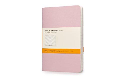 Moleskine - Set 3 Cuadernos de Diario 'Pastel', tamaño de bolsillo, de rayas (Moleskine Cahier)