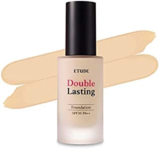 ETUDE HOUSE New Double Lasting Foundation (Ivory) SPF35/ PA++| High Coverage Weightless Foundation | 24-Hours Lasting Doub...