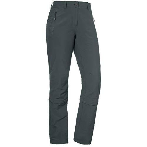 Schöffel Damen Pants Engadin Zip Off Zipp, grau (charcoal), 38