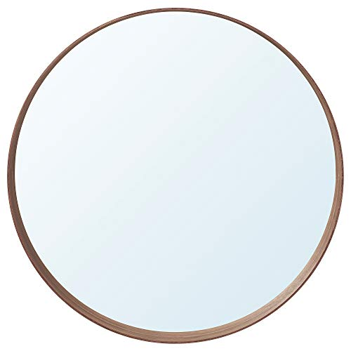Espejo Stockholm 10 x Ø60 cm chapa de nogal