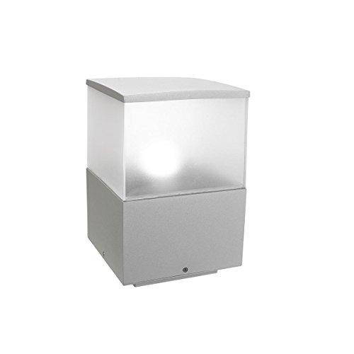 Lanterne Cubik en aluminium haute pureté gris H 30 cm