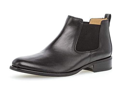 Gabor Damen Chelsea Boots 31.640, Frauen Stiefelette,Stiefel,Halbstiefel,Bootie,Schlupfstiefel,flach,schwarz,40.5 EU / 7 UK