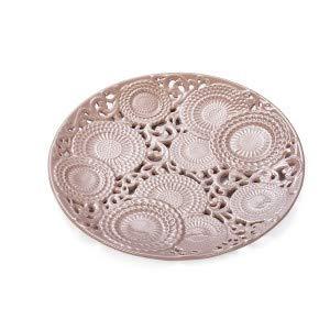 Centro de mesa de porcelana rosa 'KYOTO' Diám. 35,5 D17686