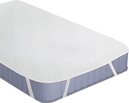 Utopia Bedding Coprimaterasso Impermeabile - Traspirante in Spugna di Cotone Top (160x200 cm)