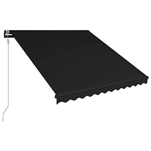 Festnight Tenda da Sole con Sensore Vento, Tenda da Balcone, Tenda da Sole, Tenda da Sole da Esterno per Balcone 300x250 cm Antracite