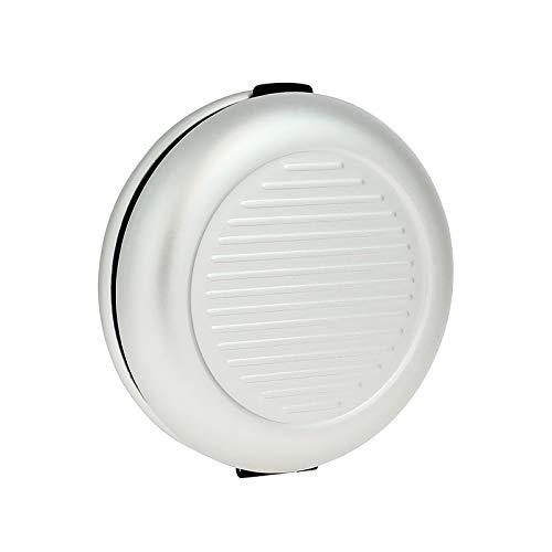 Ögon Smart Wallets - Monedero de Aluminium Euros - hasta 20€ en Monedas - 5 Monedas por Compartimento (Plata)