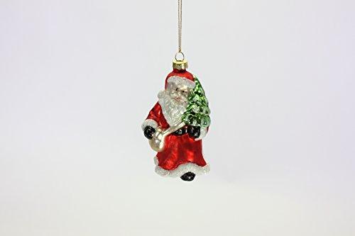 Voss Cristal Colgador Santa Claus, Color Rojo y Blanco, 6x 6x 12,2cm