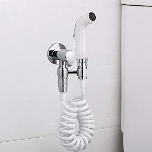 Slang en houder handdouche - hogedrukreiniging van toiletten en toiletspuitpistolen met beugels wit