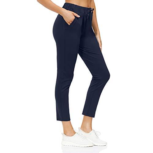 Pantalones Deportivos con cordón para Mujer Jogger Pantalón Deportivos para Correr Pantalones de Entrenamiento para Correr Senderismo con Bolsillos 2 en 1