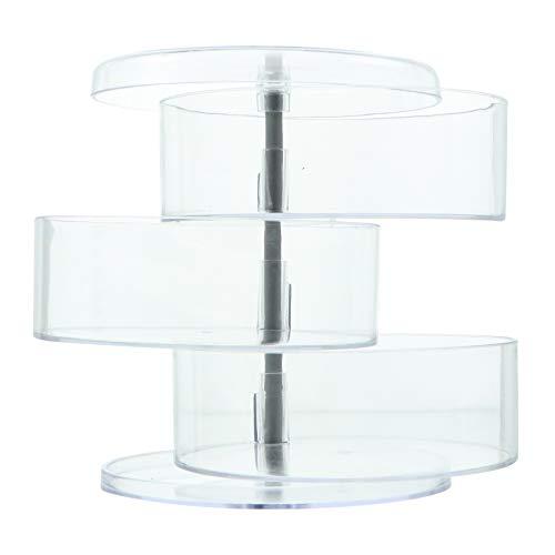 Cabilock Organizador de Maquillaje Giratorio Joyería de 360 Grados Perfumes Cosméticos Caja de Soporte de Exhibición 3 Capas de Almacenamiento de Maquillaje Estante para Tocador Dormitorio