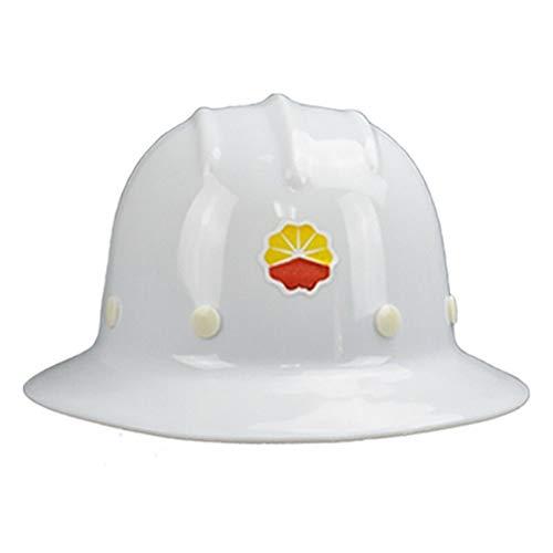 Beschermend net Lange Hoed Outdoor Helm, Verstelbare Beschermende Harde Hoed, slagvaste Legering Hars Helm, Zonbescherming Regendichte Dedicated Helm, Kleur: wit