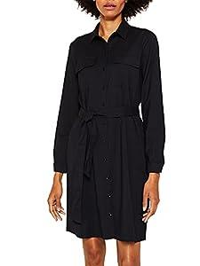ESPRIT Damen 129Ee1E018 Kleid, Schwarz (Black 001), (Herstellergröße: 36)