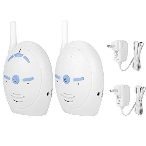 Baby Monitor, 2.4GHz Wireless Digital Audio Baby Monitor Nanny Intercom Camera Allarme elettronico con sensore di temperatura(Stati Uniti bianchi)