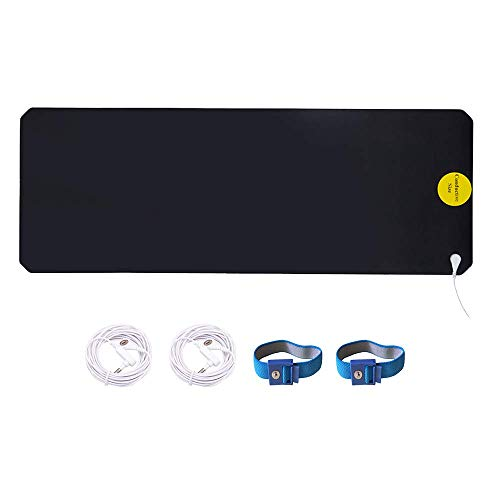 LandKissing Grounding Portable Mat (1Set) for Healthy Earth Energy with 2 Grounding Bracelets and 2 Straight Cords